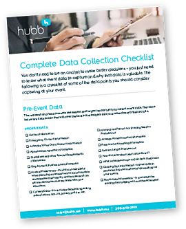 Hubb Event Data Checklist