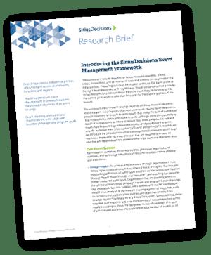 SiriusDecisions Event Management Framework Report-Thumbnail