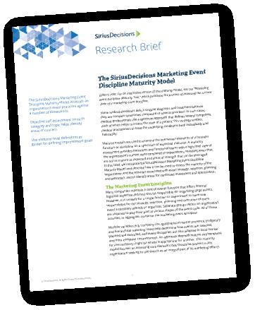 SiriusDecisions-Marketing-Event-dicipline-Maturity-Model
